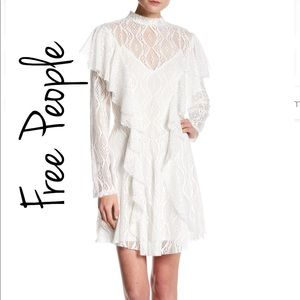 NEW Free People Mock Neck Lace Dress